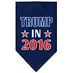 Trump in 2016 Election Screenprint Bandanas Navy Blue Small