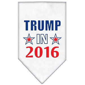 Trump in 2016 Election Screenprint Bandanas White Large