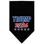 Trump Checkbox Election Screenprint Bandana Black Small