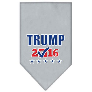 Trump Checkbox Election Screenprint Bandana Grey Small