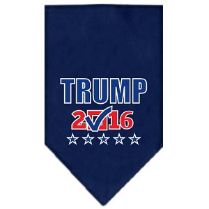 Trump Checkbox Election Screenprint Bandana Navy Blue Small