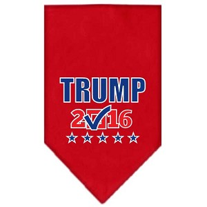 Trump Checkbox Election Screenprint Bandana Red Small
