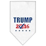 Trump Checkbox Election Screenprint Bandana White Small