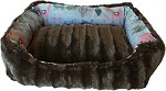 Reversible bumper dog bed Llama XS