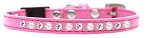Pearl and Clear Jewel Breakaway Cat Collar Bright Pink Size 10