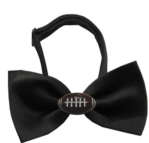 Football Chipper Black Bow Tie