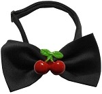 Red Cherry Chipper Black Bow Tie