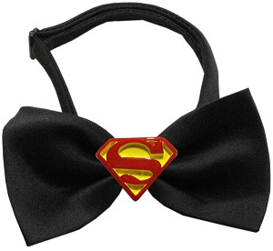 Traditional Super Chipper Black Bow Tie