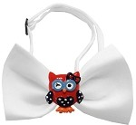 Patriotic Owls Chipper White Bow Tie