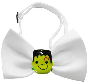 Frankenstein Chipper White Bow Tie