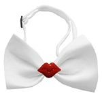 Kissy Kissy Chipper White Bow Tie