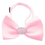Light Pink Crystal Oval Light Pink Bow Tie