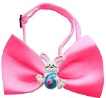 Easter Bunny Chipper Hot Pink Bow Tie