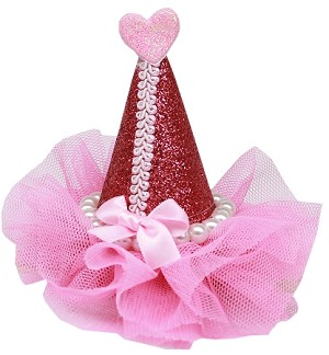 Pretty Party Hat Clip-on Bright Pink