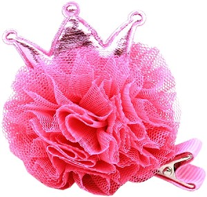 Princess Puff Clip-on Bright Pink