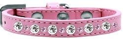 Posh Jeweled Dog Collar Light Pink Size 10