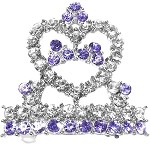 Tiara Hair Barrette Purple