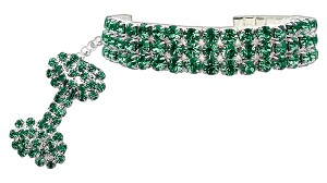 Glamour Bits Pet Jewelry Emerald M (8-10)