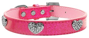 Crystal Heart Ice Cream Collar Pink Small