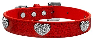 Crystal Heart Ice Cream Collar Red Medium