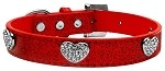 Crystal Heart Ice Cream Collar Red Extra Small