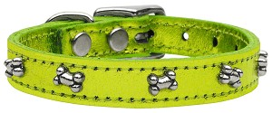 Metallic Bone Leather  Lime Green MTL 24