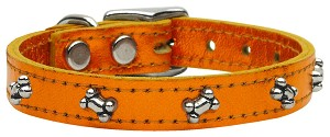 Metallic Bone Leather Metallic Orange 12