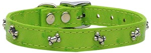 Faux Ostrich Bone Lime Green 10