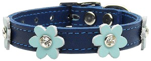 Flower Leather Blue w/ Baby Blue Flowers 12