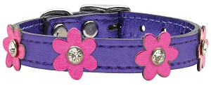 Flower Leather Metallic Purple w/ Metallic Pink 14