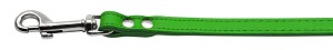 Fashionable Leather Leash Emerald Green 1/2'' Wide