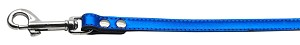 Fashionable Leather Leash Metallic Blue 3/4'' Wide
