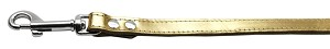 Fashionable Leather Leash Gold 3/4'' Wide