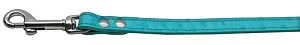 Faux Ostrich Leash Turquoise 1/2'' Wide