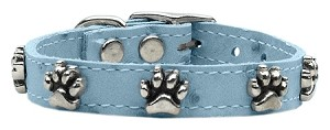 Faux Ostrich Paw Leather Baby Blue 18