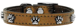 Metallic Paw Leather Bronze 10