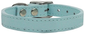 Plain Leather Collars Baby Blue 26