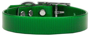 Plain Tropical Jelly Collars Emerald Green Lg