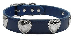 Western Heart Leather Blue 24