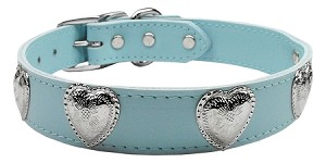 Western Heart Leather Baby Blue 24