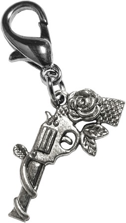 Gun N' Rose Lobster Claw Charm