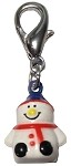 Hand Painted Christmas Bell Charm Snowman