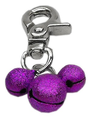 Lobster Claw Bell Charm Purple .