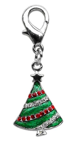 Holiday lobster claw charms / zipper pulls Christmas Tree .