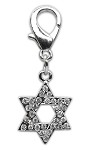 Holiday lobster claw charms / zipper pulls Star of David .