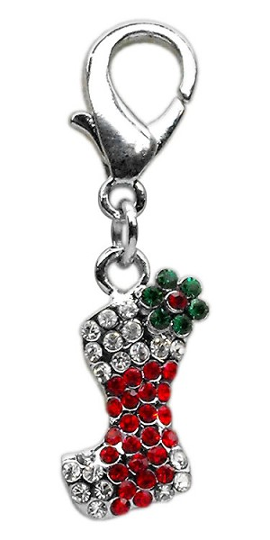 Holiday lobster claw charms / zipper pulls Stocking .