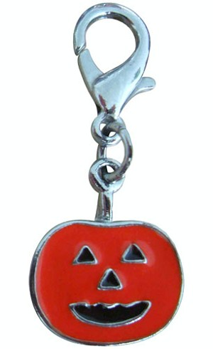 Halloween Lobster Claw Charms/Zipper Pulls Pumpkin one size
