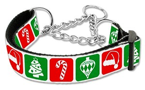 Timeless Christmas Nylon Ribbon Collar Martingale Medium