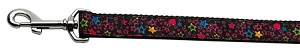 Black Star Nylon Ribbon Collars 1 wide 4ft Leash