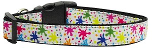 Splatter Paint Nylon Ribbon Collars Medium